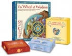 combination Alphabet for Lovers+The 72 Names Cards+Wheel of Wisdom+Tokens of Light